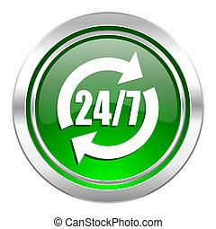 service icon, green button