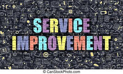 Service Improvement in Multicolor. Doodle Design.