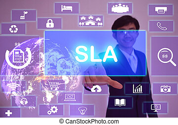 Service Level Agreement (SLA) concept presented by...