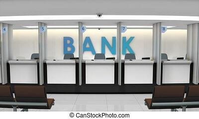 service, local, banque, compteur