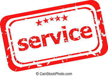 service on red rubber stamp over a white background