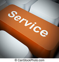 Service or services concept icon shows assistance advice or help to customers - 3d illustration