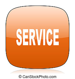 service orange square web design glossy icon