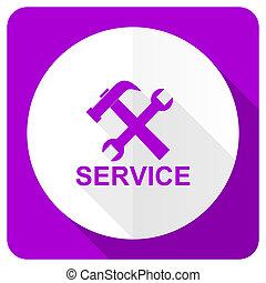 service pink flat icon