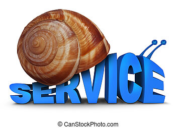 Service Problem concept as three dimensional text shaped as...