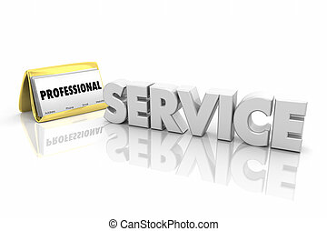 Service Professional Business Card Contractor Word 3d Render...