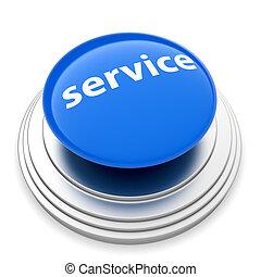 Service push button concept - 3d illustration of service...