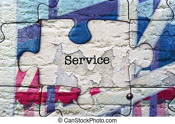 Service puzzle concept