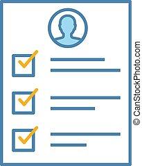Service quality control survey color icon