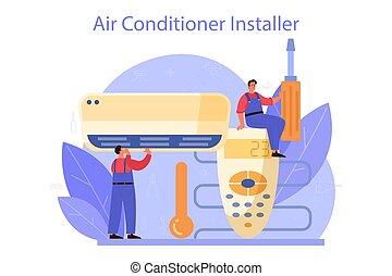 service., rendbehozás, légkondicionálás, instalation, repairman