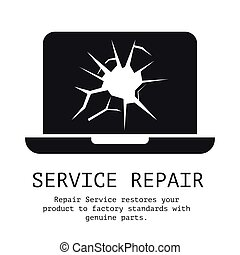 Service Repair banner with text