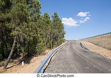 Service road next A-15 Highway, Soria, Spain