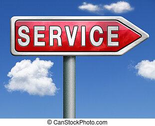 service road sign arrow