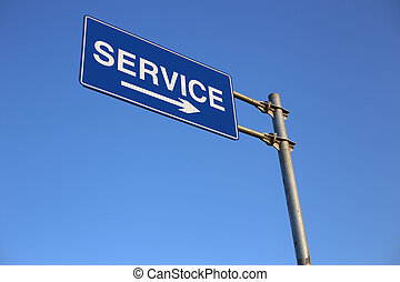 Service Road Sign