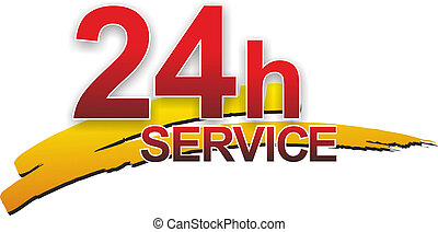 service sign - a simple sign for 24 hour service