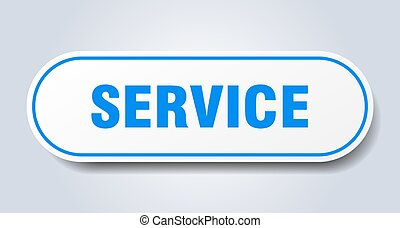 service sign. rounded isolated button. white sticker
