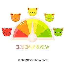 service, sourires, formulaire, mignon, évaluation, chats, client