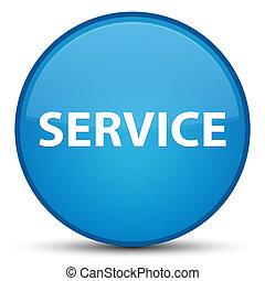 Service special cyan blue round button