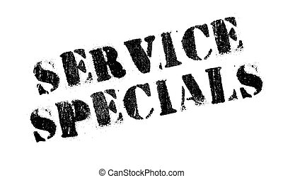 Service Specials rubber stamp