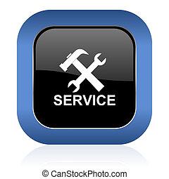 service square glossy icon