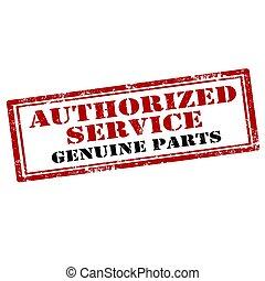 service-stamp, autorizzato