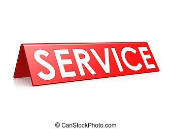 Service tag in red