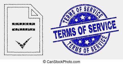 service, termes, détresse, pointillé, watermark, accord, vecteur, icône page