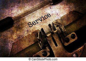 service, text, på, årgång, skrivmaskin
