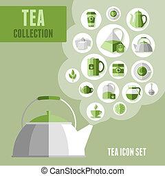 service thé, icônes