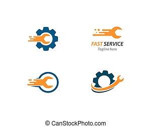 Service tool logo vector