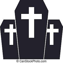 service., vállalat, temetés, agency., emblem., vektor,...