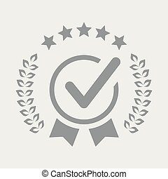 service, valute, cinq, étoiles, qualité, chèque