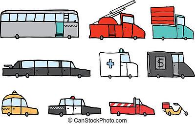 Service vehicle set