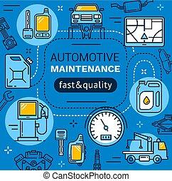 service voiture, entretien, réparation