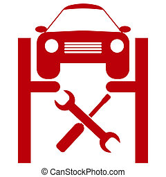 service voiture, icône