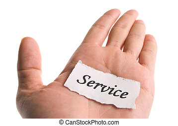 Service word in hand