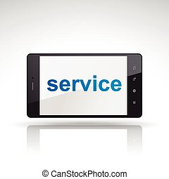 service word on mobile phone