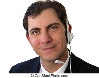 Service Worker - Young man with headset