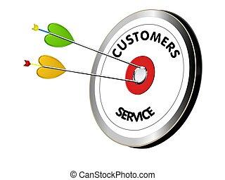 servicefachkraft, auf, der, ziel