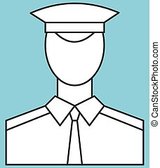 Serviceman - Illustration of the serviceman icon