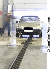 automobile in a car wash