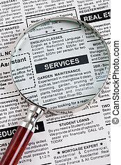 Services Ad - Fake Classified Ad, newspaper, Services...