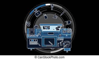 services, annoncer, animation, illustrateur, ton