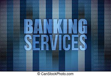 services, banque, affaires numériques, écran
