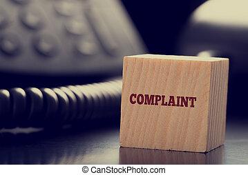 services clientèle, plainte, concept