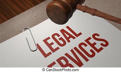 services, concept, légal
