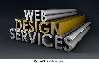 services, conception toile