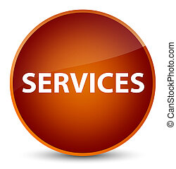Services elegant brown round button
