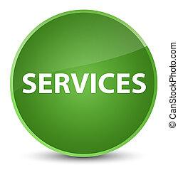 Services elegant soft green round button