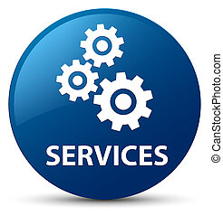 Services (gears icon) blue round button